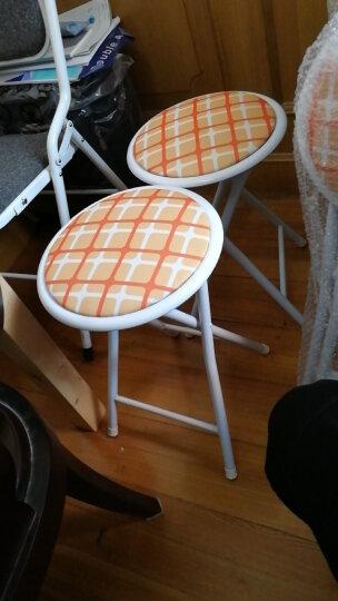 好事达凳子 布面钢折椅 折叠椅会议椅(绿色)(两件套)2950 晒单图
