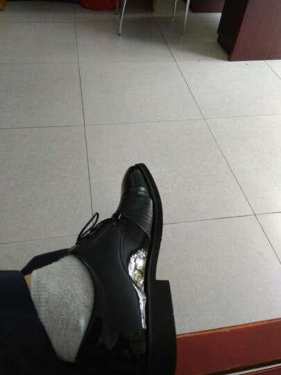 露派2019新款男士皮鞋男春夏季时尚英伦风商务正装鞋尖头休闲透气潮流软底增高鞋 9255单鞋黑色 42 晒单图