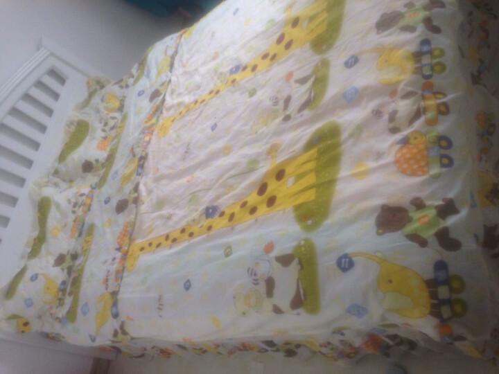 YOMENG语蒙 儿童卡通系列全棉夹棉绗缝床裙加棉纯棉床罩单件 淘气小熊 四件套1.5米(被套尺180*220cm) 晒单图