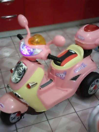 贝瑞佳(BeRica) 儿童摩托车JT518 电动童车 自驾型三轮车儿童电动车 粉色 晒单图