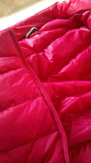 尚水缘 轻薄羽绒服女短款2017秋冬新品立领时尚修身显瘦外套女士韩版大码女装潮流羽绒上衣 紫色 180/104B(3XL) 建议140斤-155斤 晒单图