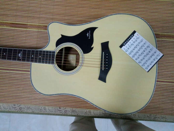 kepma 卡马 吉他民谣木吉他初学者乐器 缺角41寸 D1C原木色 晒单图