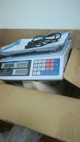 拜杰(BJ) HJ-3018电子秤台秤数码电子计价秤家用计重秤 商用蔬菜水果秤 凹面 晒单图