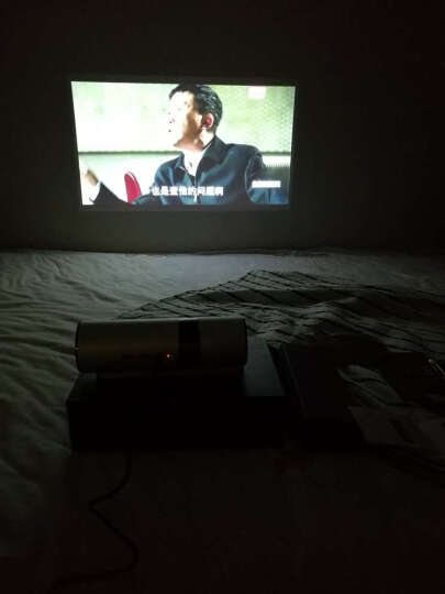 坚果投影仪p2 家用迷你高清小型会议办公移动便携式投影机智能无线wifi微型3D手机影院家庭无屏电视 【新配色】坚果p2勃艮第红版 晒单图