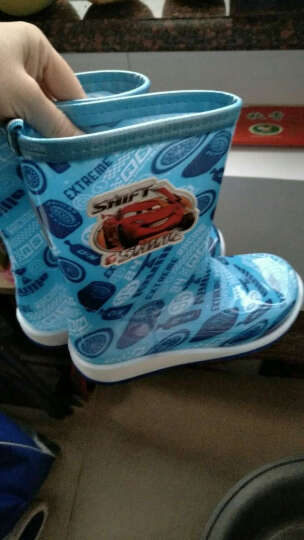 迪士尼 Disney 儿童雨鞋 男女童小学生中筒防滑胶鞋大小童雨靴 16181 汽车蓝34码/内长22.4cm 晒单图