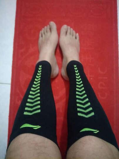 李宁 高弹力透气护腿护小腿 运动跑步 2只装 596-3  黑色透气护腿L码 晒单图