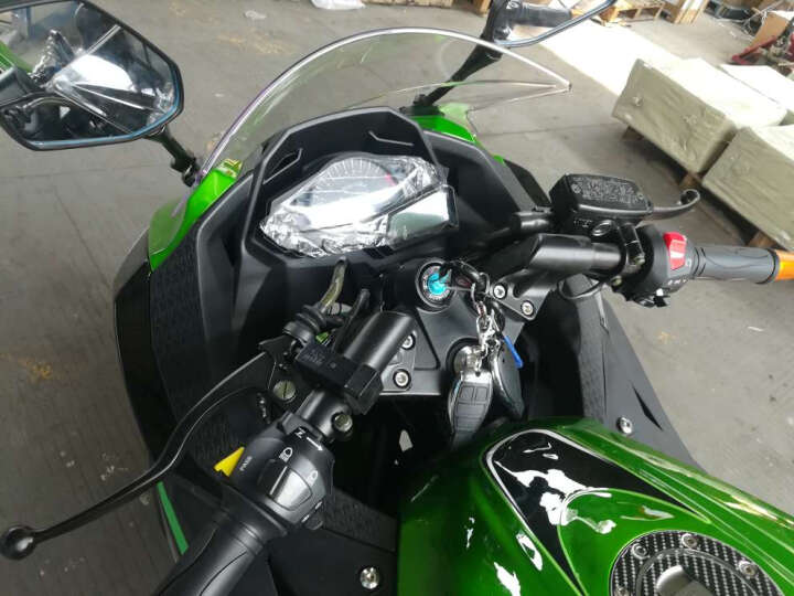 baodiao 新款小忍者款摩托车跑车赛街车重型机车150CC350CC400CC电喷大跑车可上牌 川崎绿 宗申250CC风冷六档链条机 晒单图
