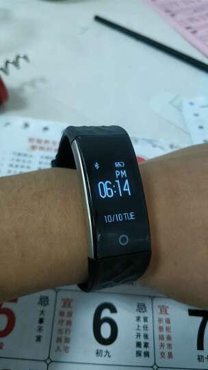 GHUG智能手环心率手表防水运动游泳计步手环微信运动男士带屏幕适配华为苹果小米安卓手环 气质黑 晒单图