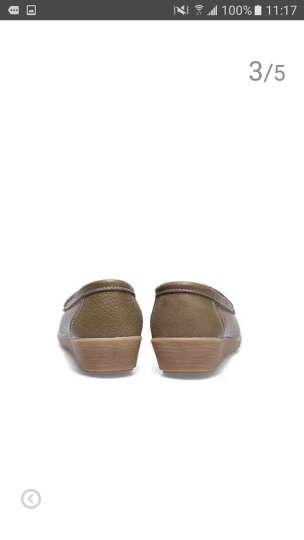 高蒂(gaodi)单鞋女牛皮舒适平底休闲鞋圆头套脚妈妈鞋 白色 39 晒单图