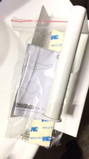 欧润哲 纸巾架 白色加厚铁制卫生间厕所卷纸巾盒托架 可放手机 晒单图