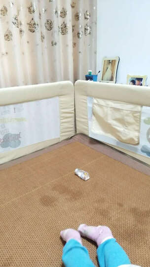 兔贝乐(rabbitbel) 床护栏床围防护栏防摔掉床栏挡板1.5 1.8 2米大床 浅灰色足球队68CM 2米 晒单图