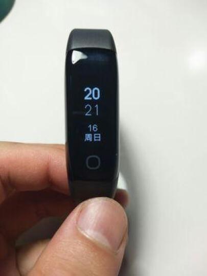 华为(HUAWEI) 智能手环B3 B5蓝牙耳机  接电话 计步 卡路里 睡眠 闹钟 B3青春版蓝色+黑色tpu表带 晒单图