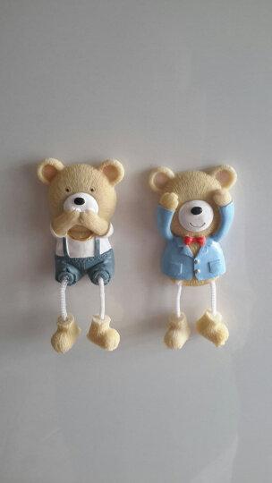 两件包邮-颐然(YIRA) 创意包邮韩国卡通树脂儿童可爱小熊磁铁立体贴磁铁吊脚娃娃冰箱贴 西服熊(蓝色) 高9CM*宽4.5CM 晒单图