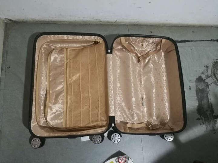 妮狼行李箱旅行箱包万向轮拉杆箱男皮箱密码箱女学生登机箱子 拉链-白天图案 24英寸 晒单图