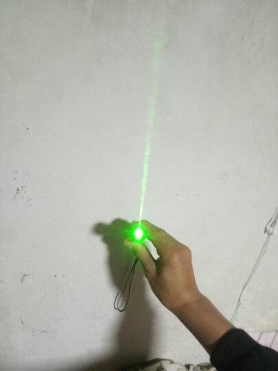 Bolaw大功率激光笔灯手电筒 红绿光强光充电防水远射镭射笔红外线天文售楼部指示指星笔BM01 黑壳红光(USB座充+2节电池)+八种图案头 带远射直线光 晒单图