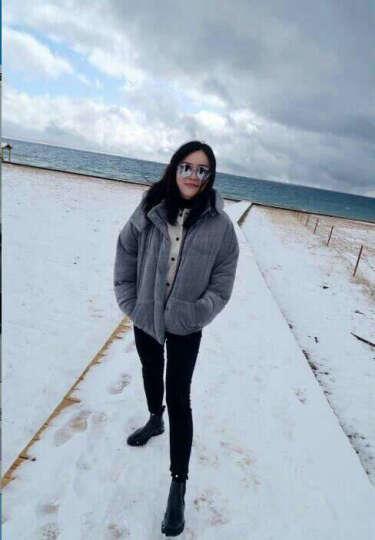 南极人羽绒裤女外穿高腰显瘦双面加厚弹力修身保暖裤暖宫护膝新款女裤 黑色 2XL(腰围2.4尺-2.5尺) 晒单图