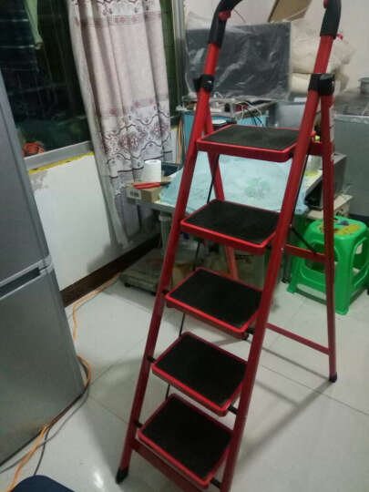 密林 折叠梯 家用梯 人字梯 梯置物架五步梯梯子家用 防滑梯 ML_BTH05 五步梯 晒单图