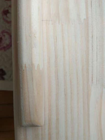 美梦居 实木儿童书桌 学习桌 可升降桌椅书架组合 松木小学生写字小书桌套装 带活动画板设计学习写字台 原木清漆色 B款100*53*75cm桌椅一套 晒单图
