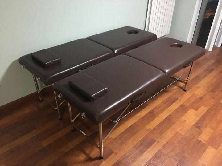 合佳折叠按摩床 折叠美容床 推拿床 美容院美容美体床 黑色 晒单图