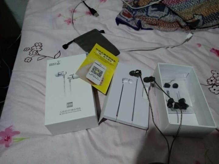 蛇圣H5 耳机入耳式 重低音耳塞手机魔音耳机 电脑小米华为苹果通用型线控带麦K歌耳机 枪黑色调音版-带麦 晒单图