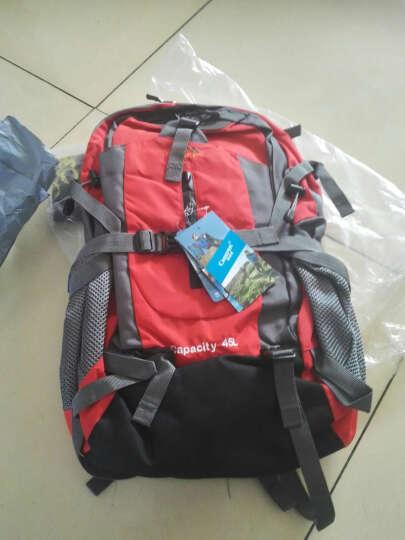 柯瑞普(Creeper)户外背包45L50L登山包双肩 男女旅游徒步背包旅行包 红色 45L送防雨罩 口哨 头巾 晒单图