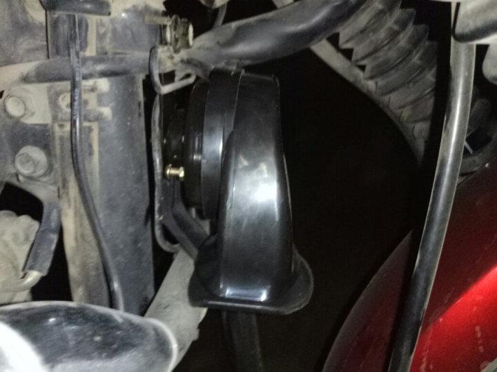 美蒂亚汽车喇叭踏板摩托车蜗牛喇叭改装配件 响汽车电动车助力车12V蜗牛高音喇叭防水 黑色一个装 晒单图