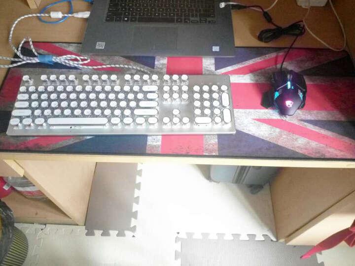 新盟 超大号鼠标垫细面键盘垫电脑桌垫守望先锋LOL游戏卡通加厚锁边包边长布垫 热气球800*300mm 晒单图