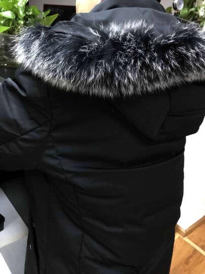 高梵 羽绒服男 2019冬季时尚修身中长款轻薄纯色连帽毛领保暖情侣加厚羽绒外套男 墨绿02 175/L 晒单图