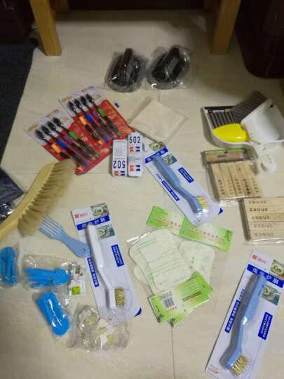 韩国竹炭牙刷4支装 双层设计 竹纤维细软毛牙刷 纳米树脂牙刷清洁牙缝 晒单图