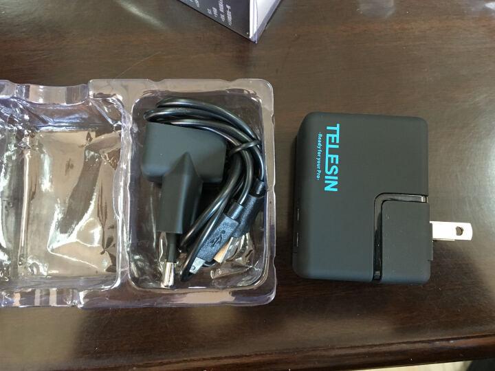 TELESIN Gopro5电池充电器 hero6配件 双电池两电一充套装 hero5/6两电一充配欧美规插头 晒单图