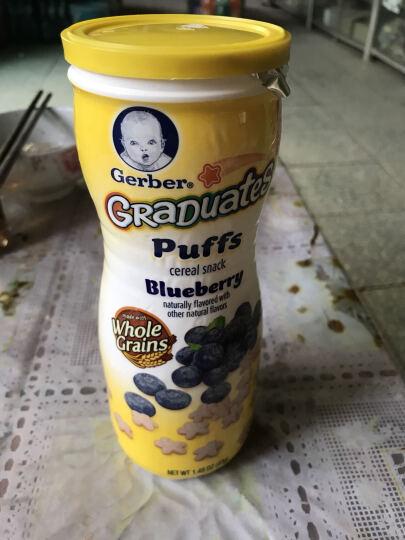 嘉宝Gerber婴幼儿辅食 星星泡芙草莓苹果口味宝宝零食 三段 8个月以上 42g 美国进口 晒单图