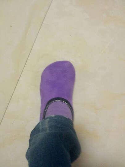 春秋款 男士女士袜套 宝宝加厚防滑袜套 地板袜 早教亲子袜 家居袜瑜伽袜 红色 女士均码35-39 晒单图