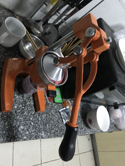 古达 手动榨汁机家用商用不锈钢榨汁机压汁机多功能榨水果机榨汁器 手动榨汁机橘色 晒单图