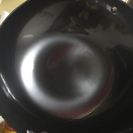 炊大皇 炒锅 32cm铸铁锅 无涂层 可立盖铁锅 生铁锅具电磁炉燃气煤气灶明火通用炒菜锅C32D2 晒单图