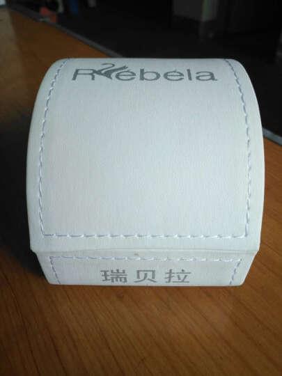 瑞贝拉(REBELA)女表时尚纤薄陶瓷防水石英手表女士手表防水潮流chic少女风 钻石版-钻石玫瑰金 晒单图