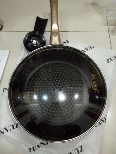 钻技(ZUANJ) 进口不粘锅 平底锅28CM煎蛋煎牛排煎锅煎炒锅 电磁炉燃气通用ZJ-GNF28(金色)赠送木铲 晒单图