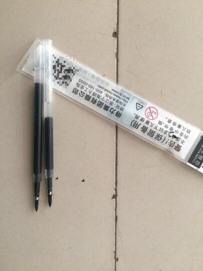 得力(deli)0.5mm按动黑色中性笔 子弹头水笔签字笔12支/盒92622 晒单图