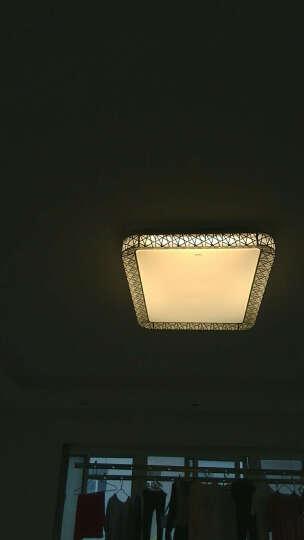 欧普照明(OPPLE)客厅灯具led吸顶灯全屋灯具中式卧室灯阳台灯长方形餐厅灯套餐 (客厅单灯-月疏影大号)遥控器调光调色 晒单图