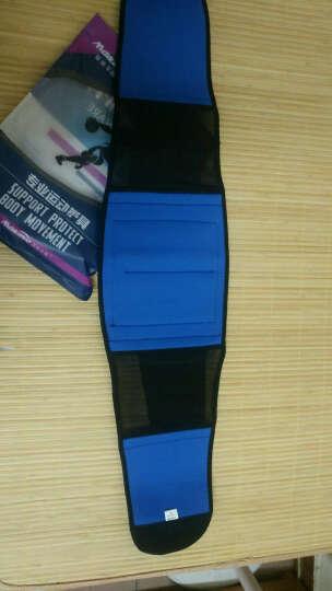 曼迪卡威护腰篮球运动支撑加压健身型透气护具八支撑条束腰带 黑色升级款 L/XL 适合腰围85cm以上 晒单图