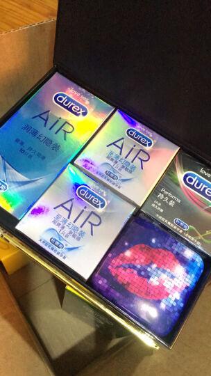 杜蕾斯 避孕套 男用 安全套 趁现在定制礼盒(AiR隐薄空气10+持久12+螺纹2+铁盒) 成人用品 Durex 晒单图
