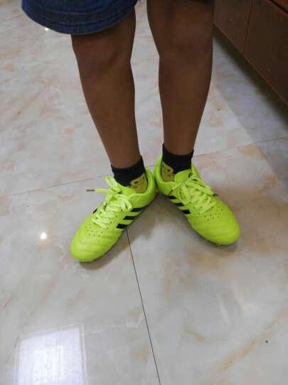 leoci 足球鞋 碎钉 男女 成人青少年儿童AG钉TF长钉训练鞋 学生比赛运动鞋45大码短钉鞋 8763 黑 碎钉 37 晒单图