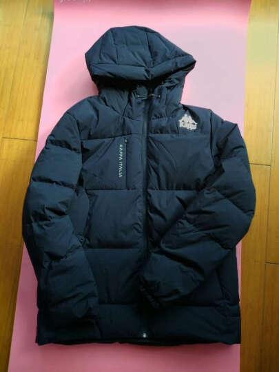 Kappa卡帕 羽绒服男款短款保暖加厚运动背靠背外套男冬季 深铁灰-131 L 晒单图