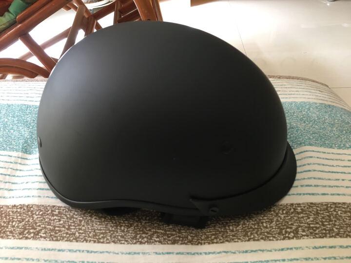 VECCHIO复古头盔电动车摩托车头盔男女款夏盔瓢盔半盔复古盔时尚 亚黑 XXL 晒单图