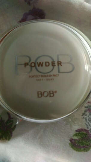 BOB 透亮恒采粉饼干粉控油保湿彩妆  遮瑕透明补妆定妆修容 02象牙白 晒单图