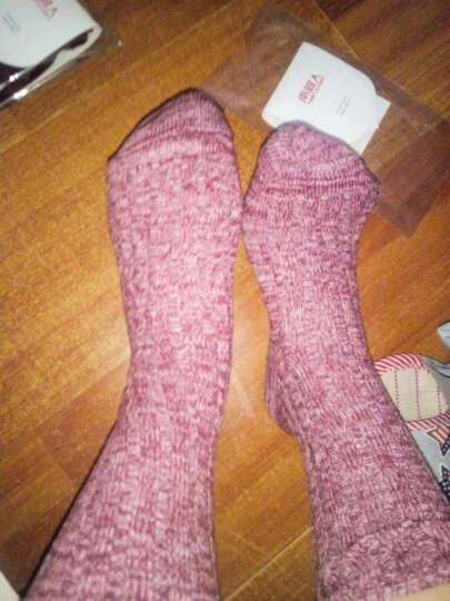 南极人 日系韩国袜子女堆堆袜精梳棉松口秋冬季中筒袜学生少女加长袜加厚 酒红白杂色 晒单图