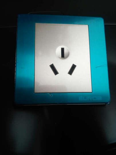 欧奔(Eurob) 开关插座面板  墙面10插座 E9不锈钢拉丝 内嵌钢架家用开关 人体感应开关 晒单图