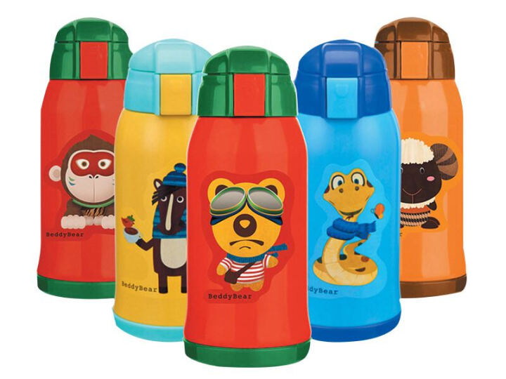 杯具熊儿童保温杯带吸管儿童水杯316不锈钢内胆宝宝学饮杯儿童保温壶 升级款-黄色小马 晒单图