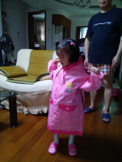 kocotree儿童雨衣雨披女孩男童透气带书包位 小学生小孩儿童雨衣 粉色 S 晒单图
