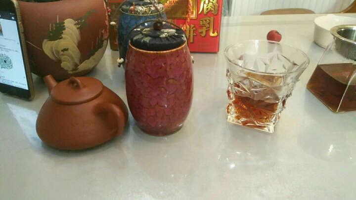 添尚 茶叶罐 陶瓷窑变茶具醒茶罐 密封储蓄罐红茶普洱茶罐 款式5窑变茶叶罐-玫红 晒单图