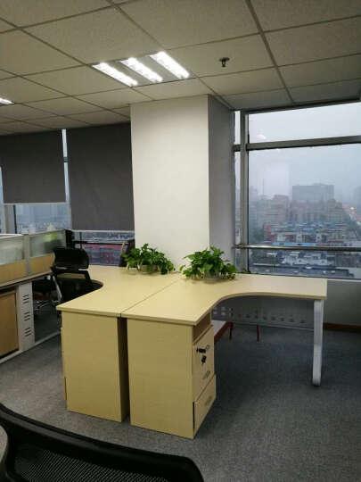 拜登世家办公家具办公桌椅职员办公桌组合电脑桌2人4人6人8人屏风工作位简约现代员工位卡座 1.4米单人位含柜 晒单图